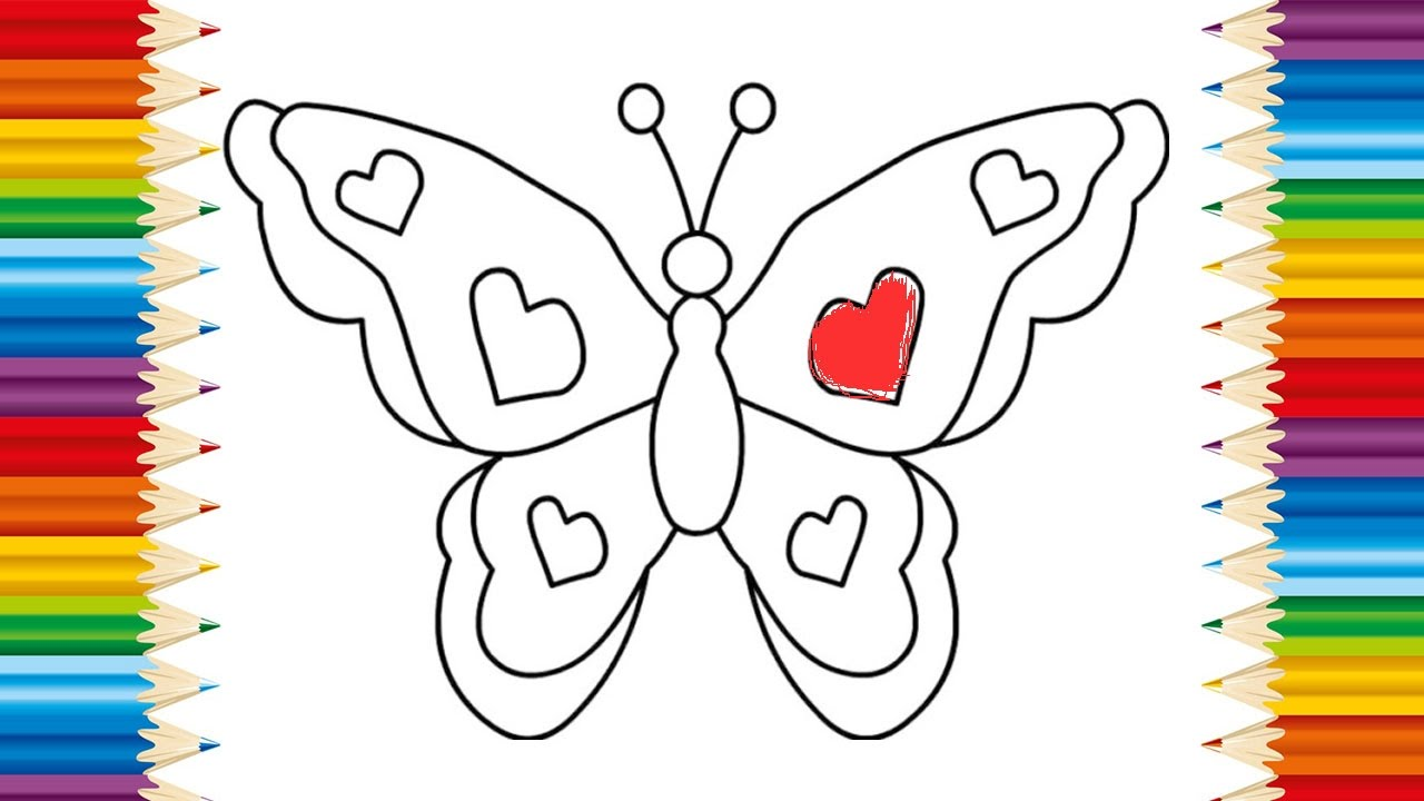 Uncategorized Images Of Butterflies For Children butterfly coloring page for kids and learning how to draw videos children
