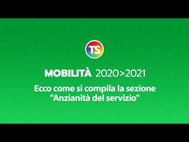Mobilità 2020/2021, ecco come si compila la sezione