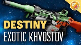DESTINY Khvostov 7G-0X NEW Exotic Auto Rifle Review & Gameplay (Rise of Iron)