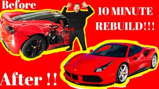 FERRARI 488 from Rebuilding A Salvage Auction in 10 minutes ( SAVED 100k $$$ )