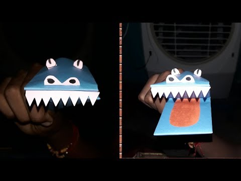DIY/ best craft idea reuse of paper/ Make paper crocodile mouth puppet very easy