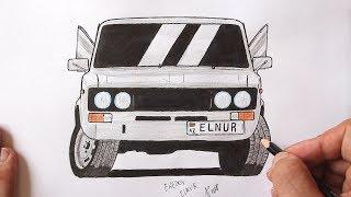 как нарисовать машину ВАЗ-2106 поэтапно  Ахадов Эльнур