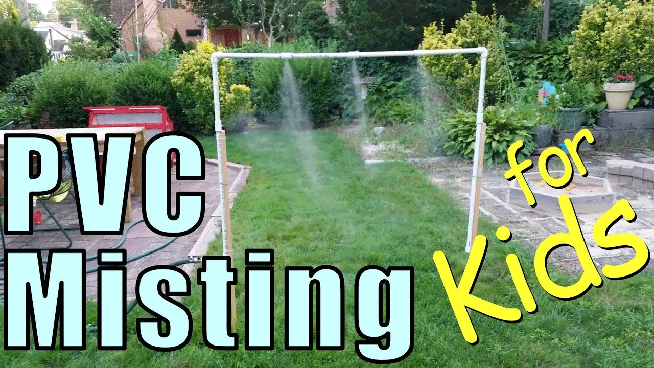 build a pvc misting system for your kids backyard pvc project