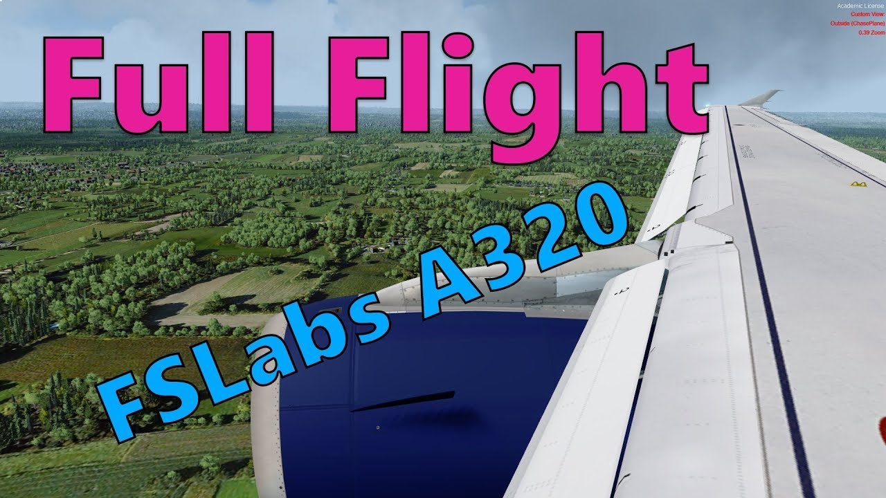 [P3Dv4 4] FSLabs Airbus A320 Full Flight - Glasgow (EGPF) to Gatwick (EGKK)  - British Airways