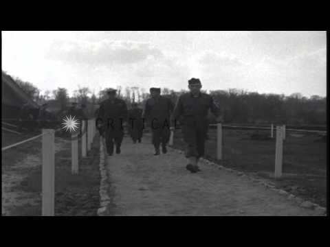 General Eisenhower visits hospitals and the Port of Cherbourg, during inspections...HD Stock Footage