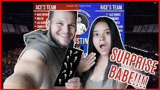I SURPRISED MY WIFE WITH TICKETS TO THE ACE FAMILY CHARITY BASKETBALL GAME!!!!