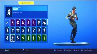 FORTNITE *RAPSCALLION* SKIN SHOWCASE (BACK BLINGS, EMOTES)