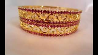 Stylish light weight gold bracelet design