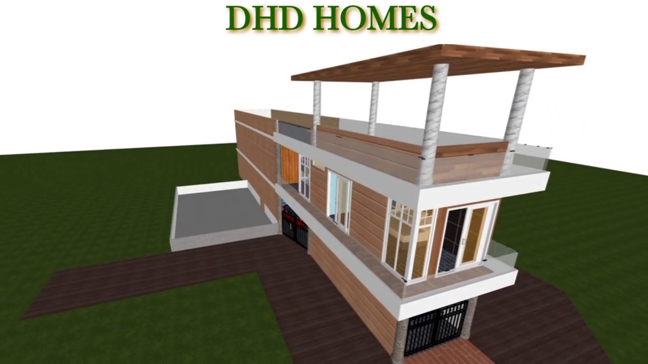 10 feet wide home plan || 12 feet wide house design || beautifull small house design 3D