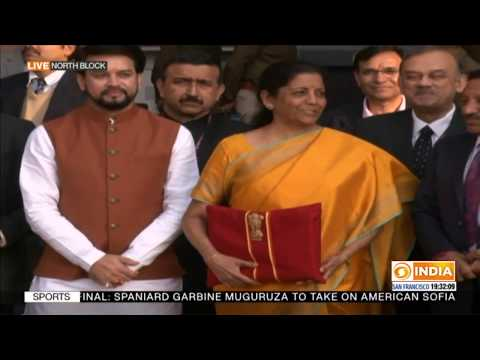 Budget 2020 | FM Nirmala Sitharaman heading towards Rashtrapati Bhavan to meet the President