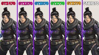 GTX470 vs GTX570 vs GTX670 vs GTX770 vs GTX970 vs GTX1070 / FORZA HORIZON / FORTNITE / GTA V / APEX