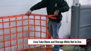 wall mounted loading dock safety net installation instructions