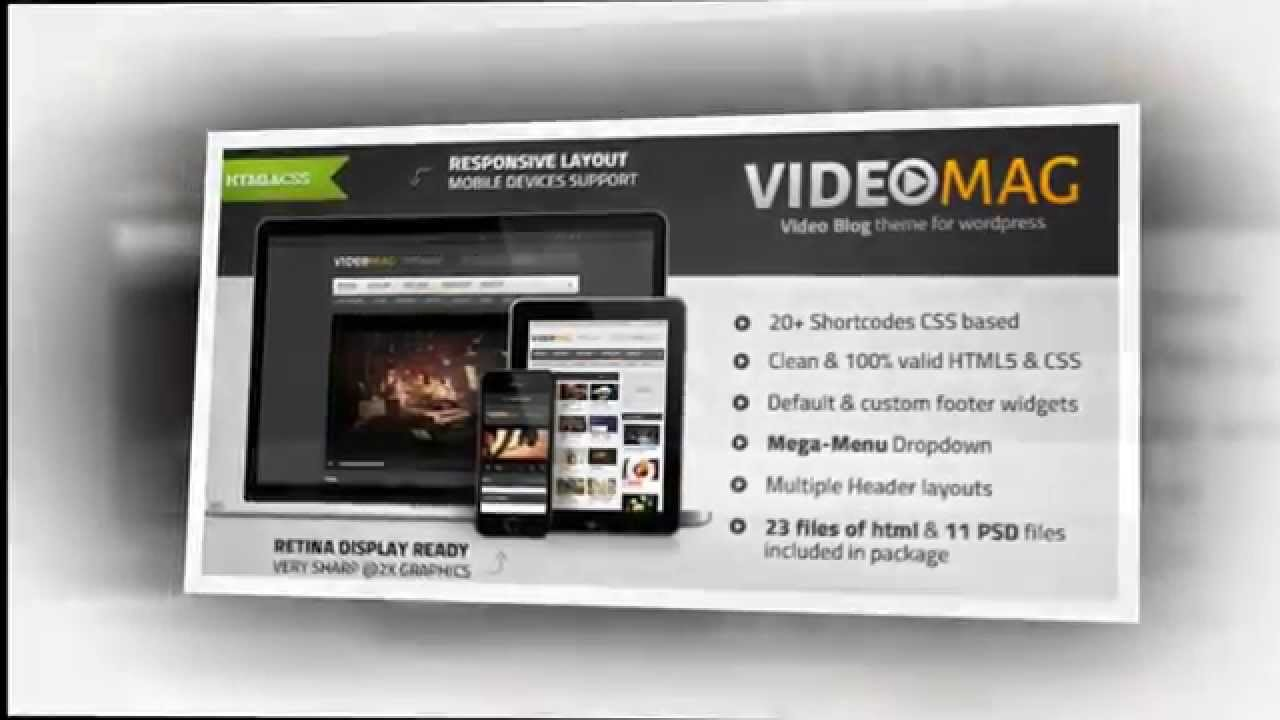 VideoMag Powerful Video HTML Template - Video ServerThemes.Net - YouTube
