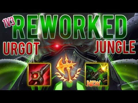 1v3 REWORKED URGOT!!??   Urgot Jungle Gameplay   League of Legends thumbnail
