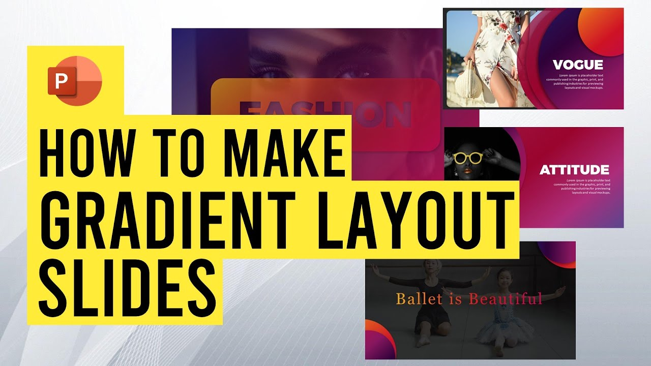 How to make awesome gradient layouts in PowerPoint!