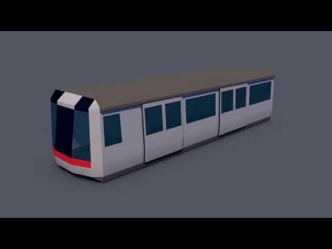 Hong Kong - MTR (low poly)