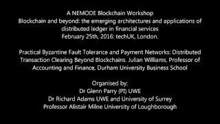 Blockchain and beyond Williams