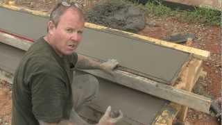 Concrete Step Form Liners   Pouring Concrete Steps