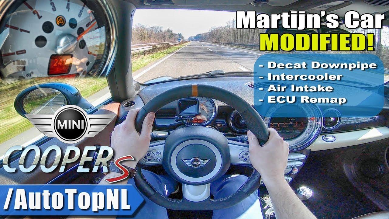 Mini Clubman Cooper S R55 230HP TUNED   AUTOBAHN POV   241km/h TOP SPEED by  AutoTopNL
