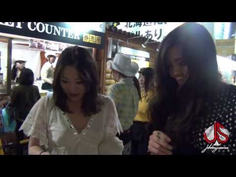 Sexy Girl Touched & Fooled.  Japan street magic episode #2