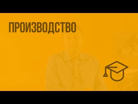 Производство. Видеоурок по обществознанию 8 класс