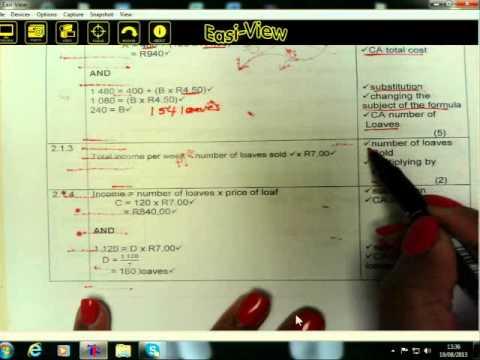 Math Literacy Gr 12 Teachers - Term 3 Test Memo Discussion - 19/08/2013