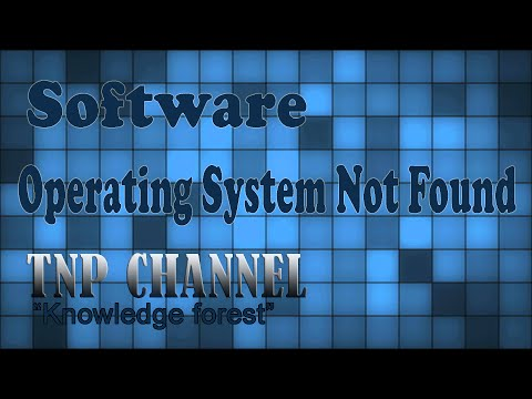 How to fix error : Operating System Not Found On Sony Vaio