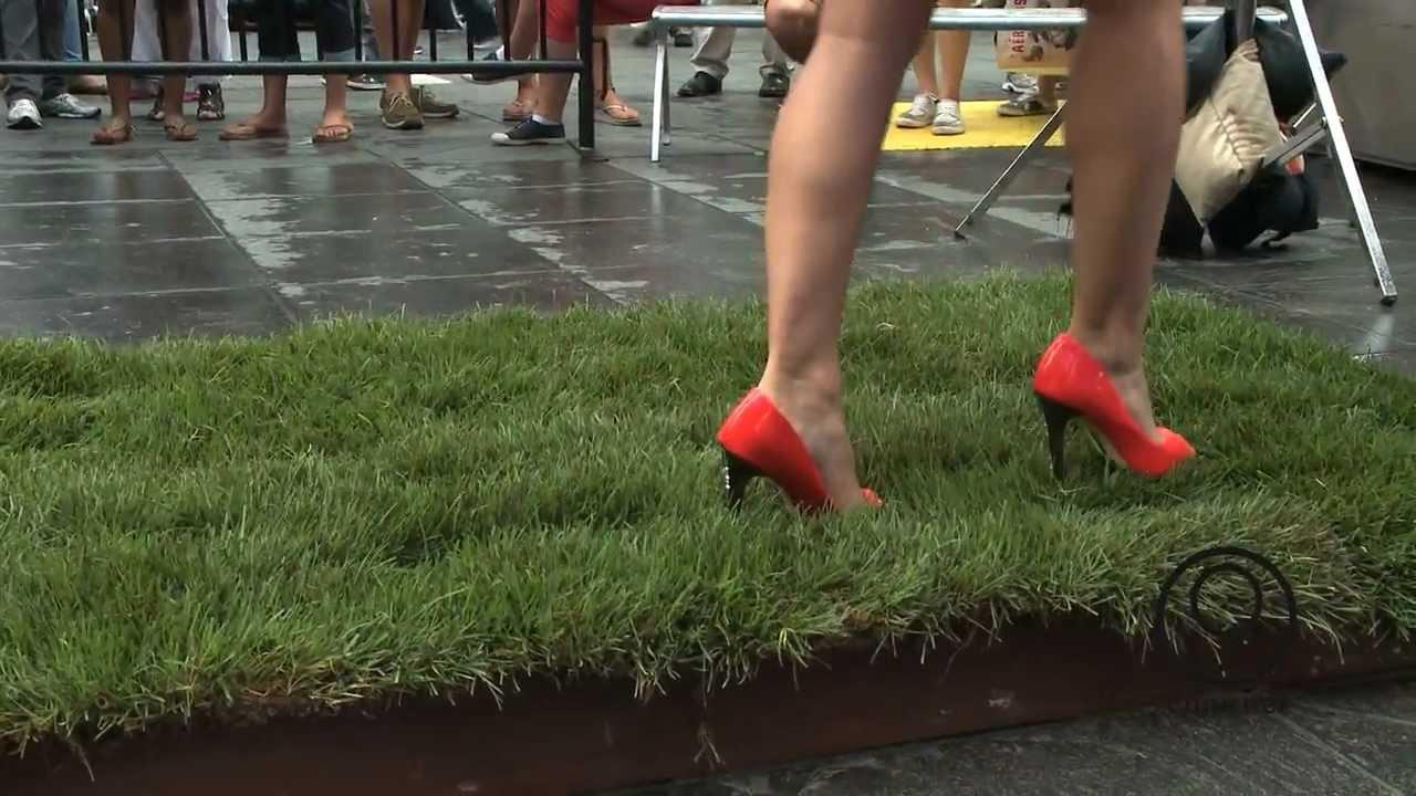 5fcb3642395 You ve Been Schooled Walking In Heels Episode 3 - Walking on Grass - YouTube