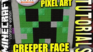 MINECRAFT - PS4 - CREEPER FACE PIXEL ART - HOW TO - TUTORIAL ( PS3 / XBOX / PC ) TU19 UPDATE