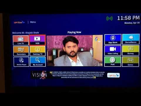 AP Fiber Latest features and Channels details [Andhra Pradesh State FiberNet Limited (APSFL) ]