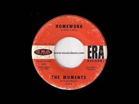 The Moments - Homework [Era Records] 1963 Teen Doo-Wop RnB Oldies 45