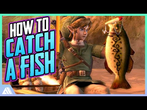 Zelda Twilight Princess - How To Catch A Fish On Wii