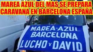 BARCELONA-ESPAÑA MAREA AZUL DEL MAS SE PREPARA PARA RECORRE LAS PRINCIPALES CALLES DE LA CIUDAD..