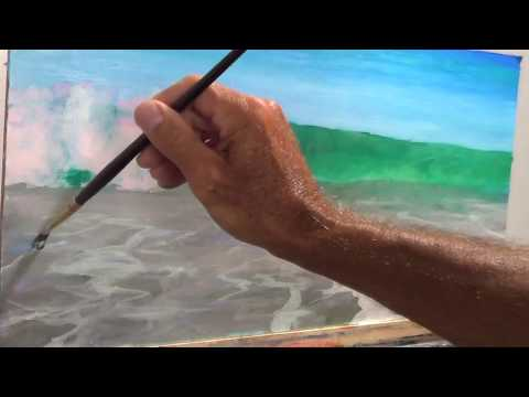 Oil Painting surf, wave, sand tips & techniques