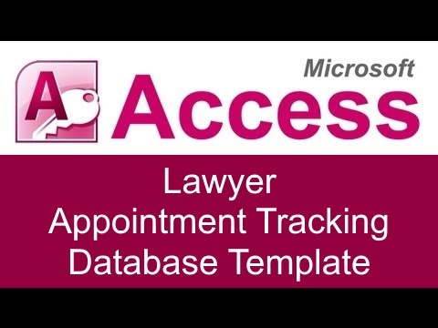 Microsoft Access Lawyer Appointment Tracking Database Template