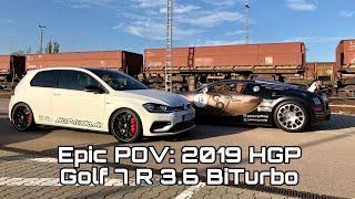 Epic POV: 2019 HGP Golf 7 R 3.6 BiTurbo meets Bugatti Veyron Grand Sport 🔥🔥🔥 #norace #just4fun