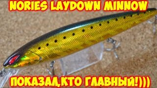 NORIES LAYDOWN MINNOW MID 110 SP - показал,кто главный!)))