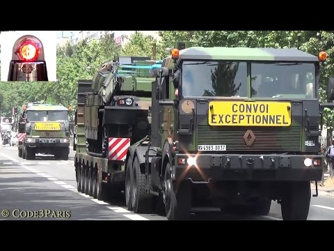 Police Motorcycle Escort French Tanks // Convoi exceptionel chars
