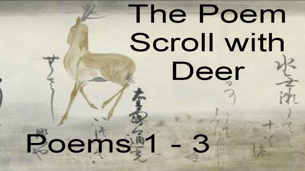 poem scroll deer poems  poem scroll deer poems 1 3