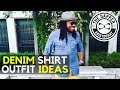 Mens Denim Shirt Outfit Ideas  for Fall | How to Wear a Denim Shirt Men
