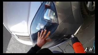 видео Инструкция тонировки фар пленкой своими руками