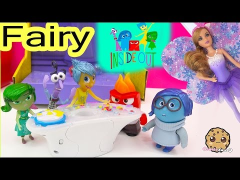 Disney Pixar Inside Out Dolls Fear, Disgust, Anger, Joy And Sadness Control Barbie Fairy Video