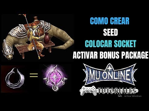 Guia SOCKET Como Crear SEED Sphere Colocar Socket Activar BONUS Package Opcion Mu Online Season 6
