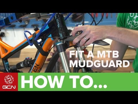 How To Fit A Mountain Bike Mudguard - Fit An SKS Shockboard