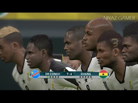 DR CONGO vs GHANA | African of Nations | Penalty Shootout | PES 2017