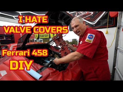Removing the VALVE COVERS on my FERRARI 458  – repaint and replace gaskets