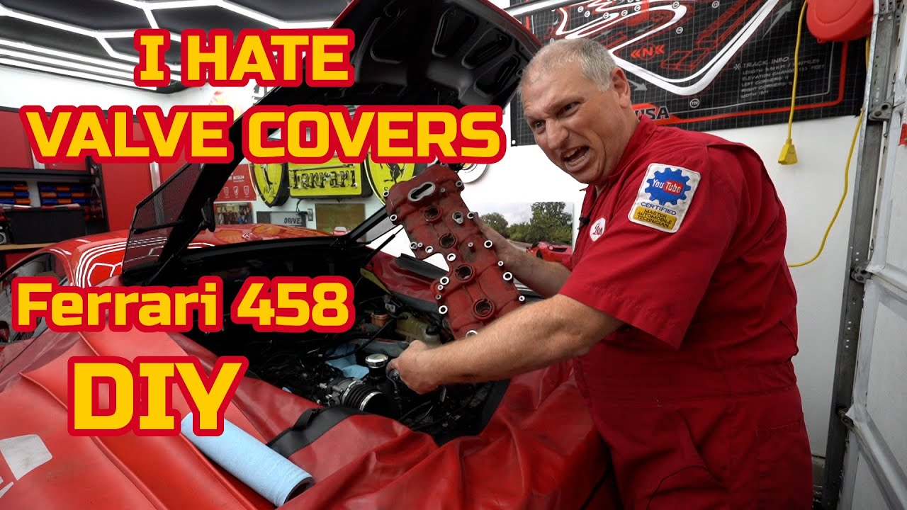 Removing the VALVE COVERS on my FERRARI 458  - repaint and replace gaskets