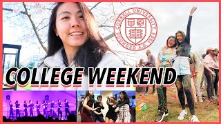 🍻College WEEKEND in my Life at Cornell University 2019 (Freshman Year Vlog)   Katie Tracy