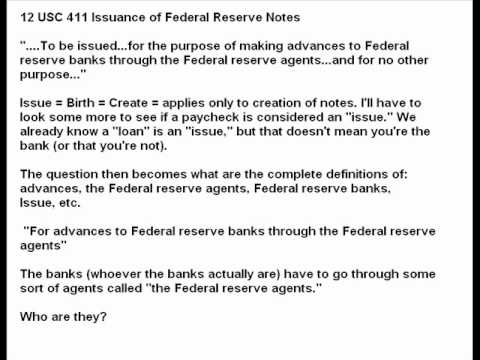 """Federal Reserve Notes Correction (Maybe) the Issue is """"Issue"""" Once Issued Notes are Negotiable"""