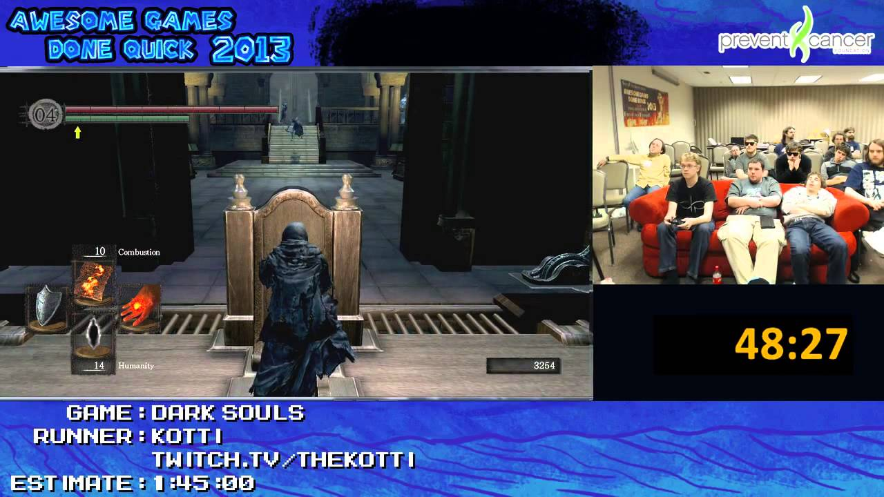 Dark Souls Speed Run In 1 27 15 By Kotti Awesome Games